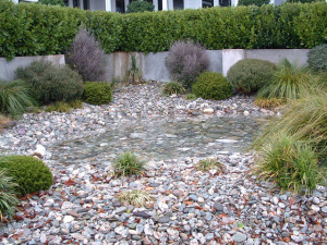 garden with pebbles